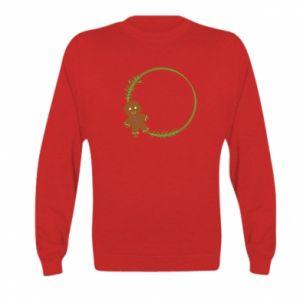 Kid's sweatshirt Gingerbread Man Wreath