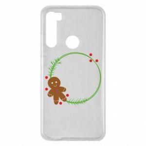 Xiaomi Redmi Note 8 Case Gingerbread Man Wreath