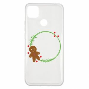 Xiaomi Redmi 9c Case Gingerbread Man Wreath