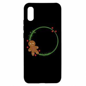 Xiaomi Redmi 9a Case Gingerbread Man Wreath