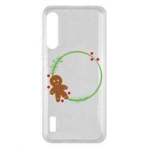 Xiaomi Mi A3 Case Gingerbread Man Wreath