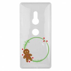 Sony Xperia XZ2 Case Gingerbread Man Wreath