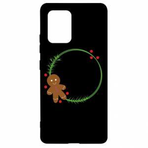Samsung S10 Lite Case Gingerbread Man Wreath