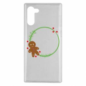 Samsung Note 10 Case Gingerbread Man Wreath
