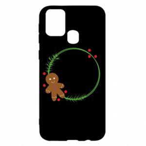 Samsung M31 Case Gingerbread Man Wreath