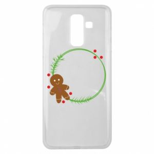 Samsung J8 2018 Case Gingerbread Man Wreath