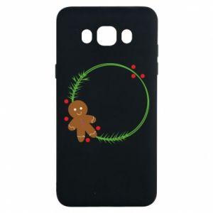 Samsung J7 2016 Case Gingerbread Man Wreath