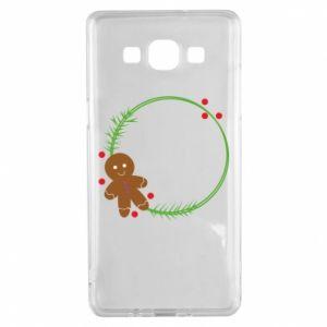 Samsung A5 2015 Case Gingerbread Man Wreath
