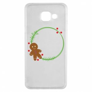 Samsung A3 2016 Case Gingerbread Man Wreath