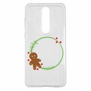 Nokia 5.1 Plus Case Gingerbread Man Wreath