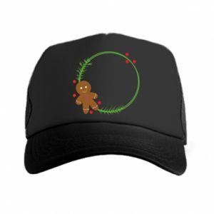 Trucker hat Gingerbread Man Wreath