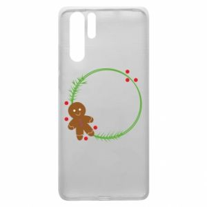 Huawei P30 Pro Case Gingerbread Man Wreath