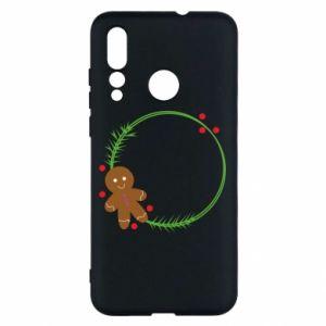 Huawei Nova 4 Case Gingerbread Man Wreath