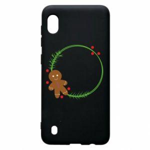 Samsung A10 Case Gingerbread Man Wreath