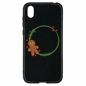 Huawei Y5 2019 Case Gingerbread Man Wreath