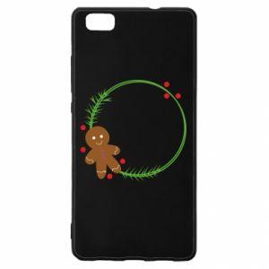Huawei P8 Lite Case Gingerbread Man Wreath