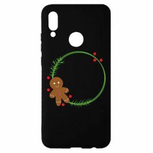 Huawei P Smart 2019 Case Gingerbread Man Wreath