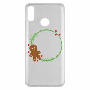 Huawei Y9 2019 Case Gingerbread Man Wreath