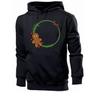 Men's hoodie Gingerbread Man Wreath