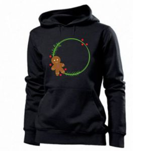 Women's hoodies Gingerbread Man Wreath