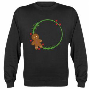 Sweatshirt Gingerbread Man Wreath