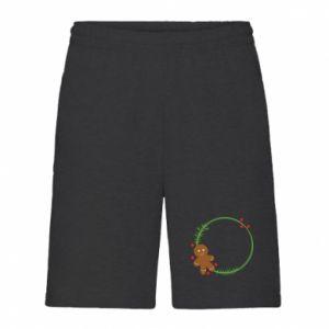 Men's shorts Gingerbread Man Wreath