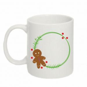 Mug 330ml Gingerbread Man Wreath