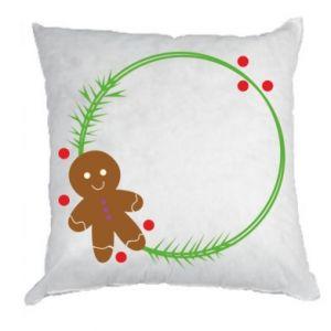 Pillow Gingerbread Man Wreath