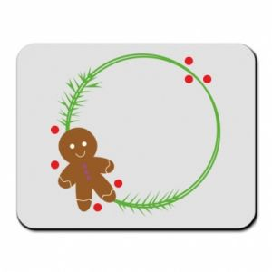 Mouse pad Gingerbread Man Wreath