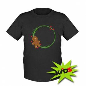 Kids T-shirt Gingerbread Man Wreath