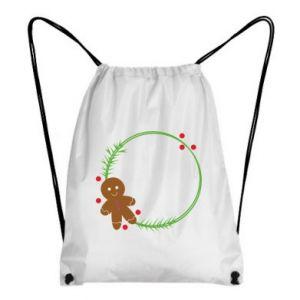 Backpack-bag Gingerbread Man Wreath
