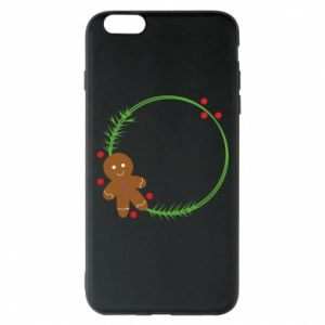 Phone case for iPhone 6 Plus/6S Plus Gingerbread Man Wreath
