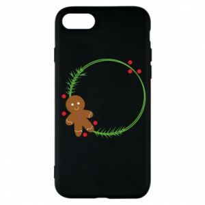 Phone case for iPhone 7 Gingerbread Man Wreath