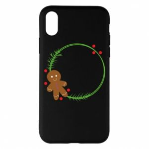 Phone case for iPhone X/Xs Gingerbread Man Wreath
