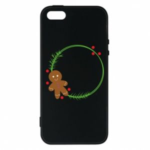 Phone case for iPhone 5/5S/SE Gingerbread Man Wreath