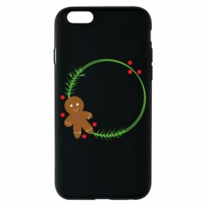 Phone case for iPhone 6/6S Gingerbread Man Wreath