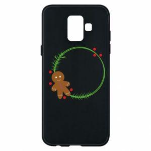 Phone case for Samsung A6 2018 Gingerbread Man Wreath