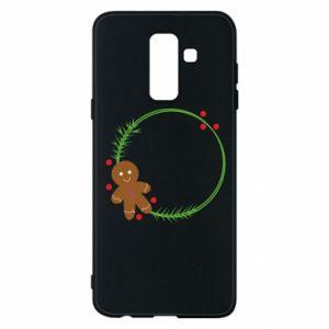 Phone case for Samsung A6+ 2018 Gingerbread Man Wreath