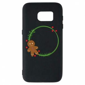 Phone case for Samsung S7 Gingerbread Man Wreath