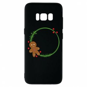 Phone case for Samsung S8 Gingerbread Man Wreath