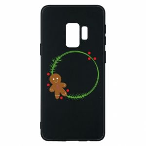 Phone case for Samsung S9 Gingerbread Man Wreath