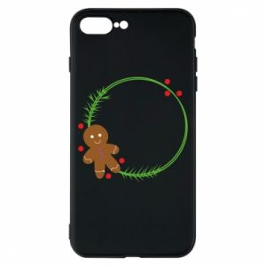 Phone case for iPhone 8 Plus Gingerbread Man Wreath