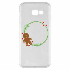 Phone case for Samsung A5 2017 Gingerbread Man Wreath