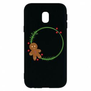 Phone case for Samsung J3 2017 Gingerbread Man Wreath