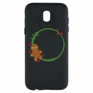 Phone case for Samsung J5 2017 Gingerbread Man Wreath