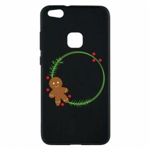 Phone case for Huawei P10 Lite Gingerbread Man Wreath