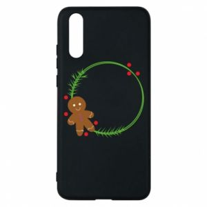 Phone case for Huawei P20 Gingerbread Man Wreath