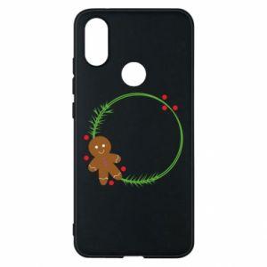 Phone case for Xiaomi Mi A2 Gingerbread Man Wreath