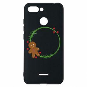 Phone case for Xiaomi Redmi 6 Gingerbread Man Wreath