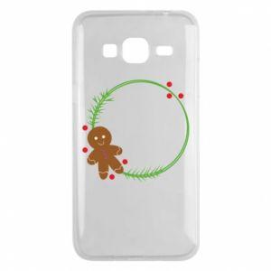 Phone case for Samsung J3 2016 Gingerbread Man Wreath